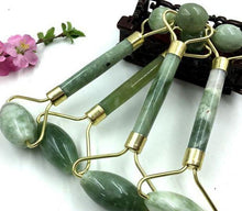 Load image into Gallery viewer, Natural Jade Facial Roller & Gua Sha Set - El Sanar