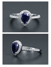 Load image into Gallery viewer, Pear Sapphire Ring - El Sanar