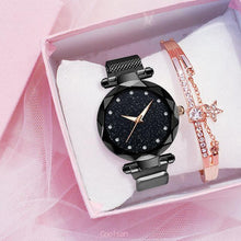 Load image into Gallery viewer, Ladies Mesh Watch & Rose Tone Bracelet set - El Sanar