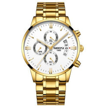 Load image into Gallery viewer, Men's Chronograph Watch In Gold Tone Stainless Steel - El Sanar