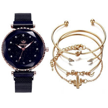 Load image into Gallery viewer, Luxury Female watch & Bracelet 5pc/set - El Sanar