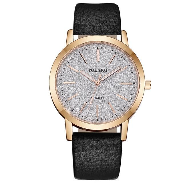 Ladies Watch in Black Leather & Stainless Steel - El Sanar
