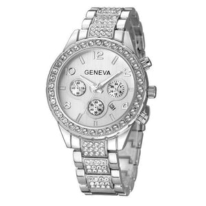 Ladies' Watch With Cubic Zirconia In Stainless Steel - El Sanar