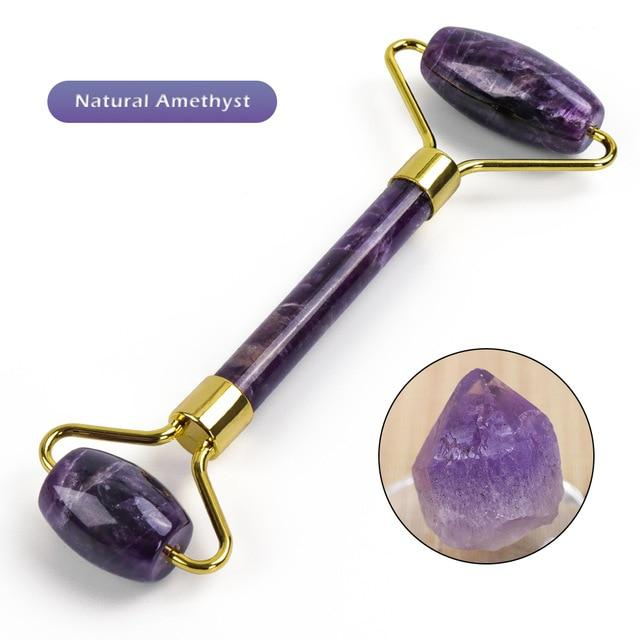 Natural Amethyst Face Massage Roller - El Sanar