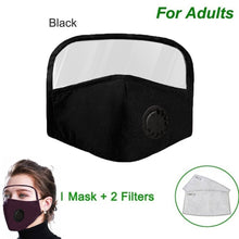 Load image into Gallery viewer, Protective Breathing Face Mask With Eyes Shield (mask +2 filters Set)