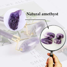 Load image into Gallery viewer, Natural Amethyst Face Massage Roller | Anti-Aging Slimming Face Massage Tool