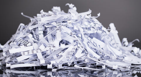 Shredded paper can clog up recycling machines