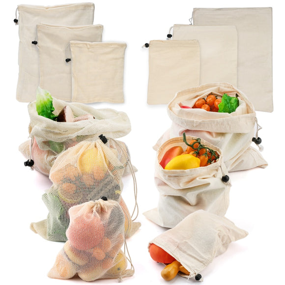 3 Piece Reusable Fruit & Vegetable Bag Set - The Eko Company