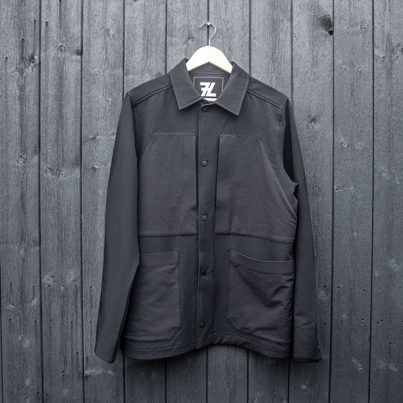STRETCH OVERSHIRT - BLACK