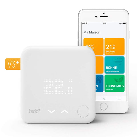 tado° Thermostat Connecté Kit de Démarrage V3+ Wi-Fi Compatible Homekit