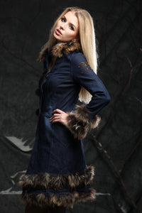 Custom Design Original Faux Fur Denim Jacket