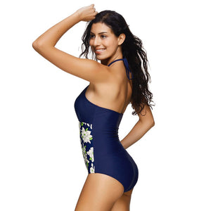 Retro Floral Removable Padded Monokini