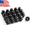 14x1.5 Black Mag Seat Closed End Wheel Lug Nuts with Washer 20Pcs