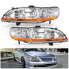 1998-2002 Honda Accord Headlights Assembly with Amber Reflector - YITAMotor