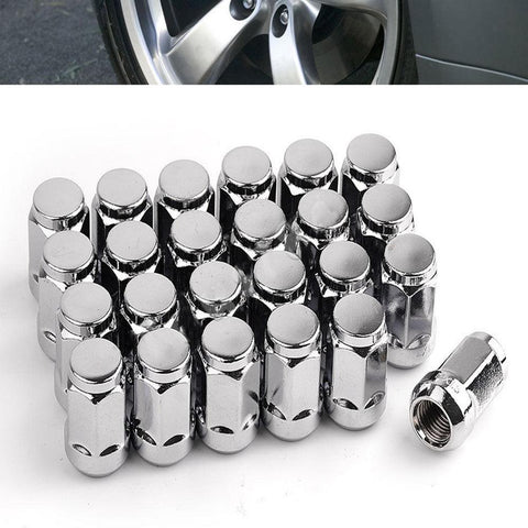 24 Chrome Bulge Acorn 14x1.5 Lug Nuts for Chevrolet Silverado Equinox Mailbu XL - YITAMotor