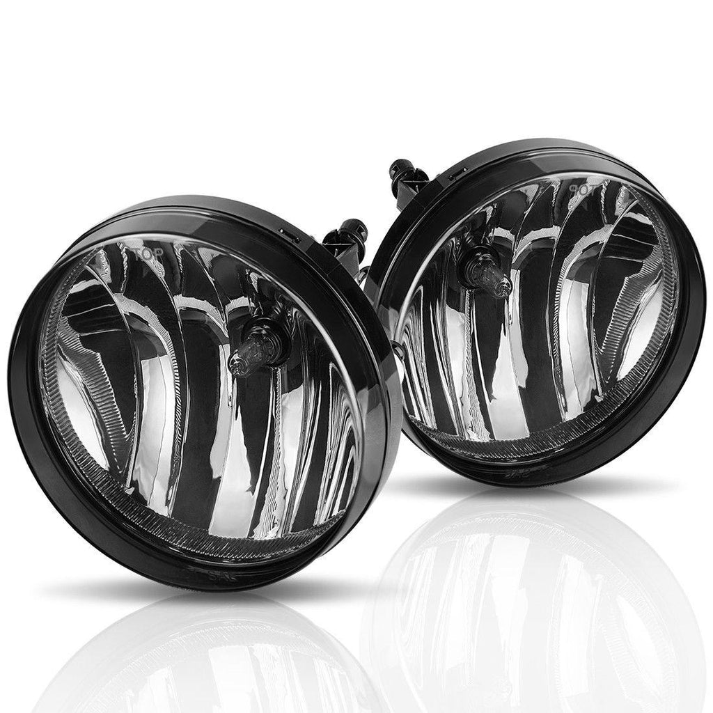 Fog Lights Fit for 2007-2013 GMC Sierra 1500/2007-2014 Sierra 2500 3500 (OE Style Smoke lens w/ 5202 PS 12V 37.5W Bulbs) - YITAMotor