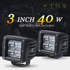 3 Inch 40W 9D LED Flood Work Light 2PACK - YITAMotor