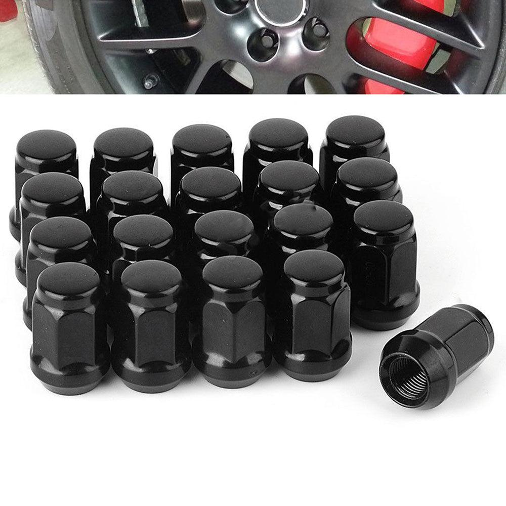 20 Black 12x1.5 Steel Lug Nuts Cone Seat Closed End for Ford Fusion Honda Accord - YITAMotor