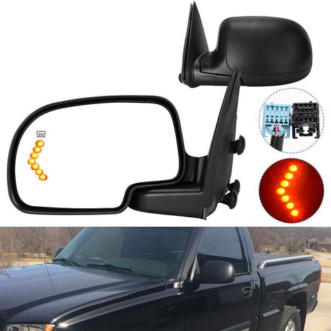 03-06 Chevy GMC Truck Power Heated Driver Left Side Signal Side View Mirror - YITAMotor