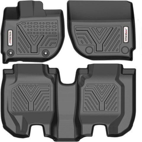 YITAMOTOR Floor Mats For 2016-2021 Honda HR-V, Custom Fit Black TPE Floor Liners,1st & 2nd Row All-Weather Protection