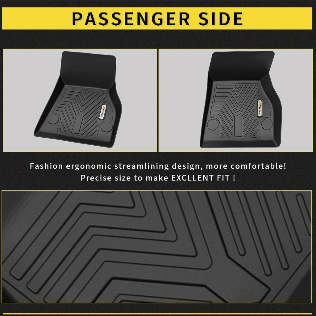 Floor Mats Floor Liners for 2015-2019 Tesla Model S, 1st & 2nd Row All Weather Protection