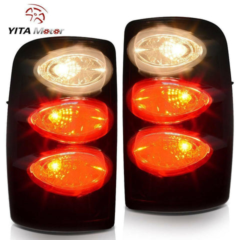 Tail Lights For 2000-2006 Chevy Suburban Tahoe /GMC Yukon Black Smoke Rear Lamps - YITAMotor
