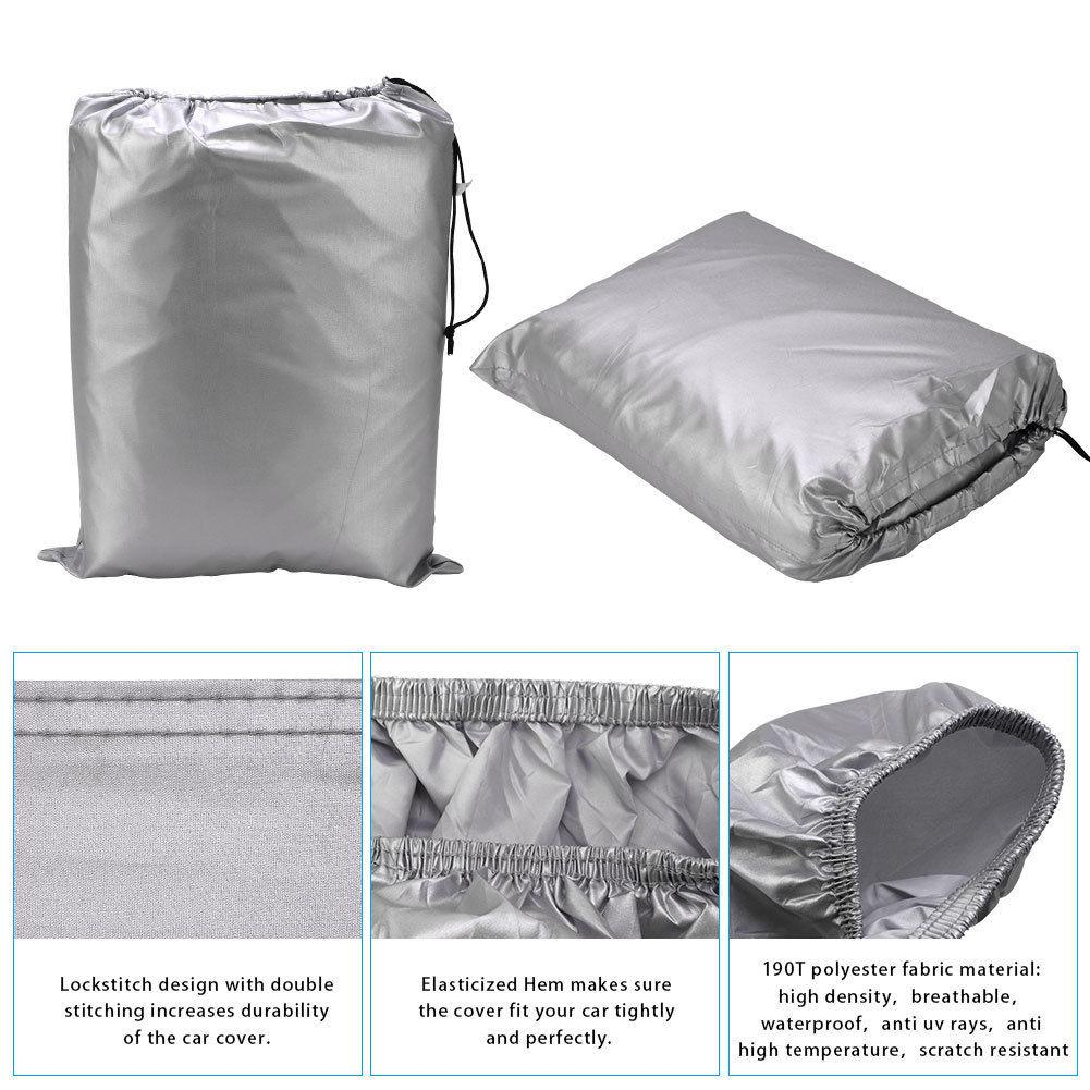 Fit up to 210 inches for Ford Mustang Full Car Cover Waterproof Breathable Outdoor Universal - YITAMotor