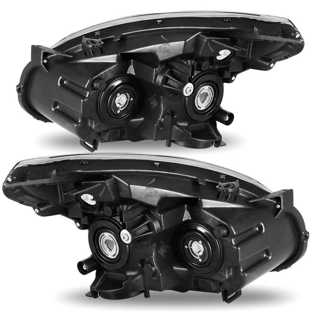 Headlights Assembly for 2008-2013 Nissan Rogue Clear Chrome Headlamps Left+Right