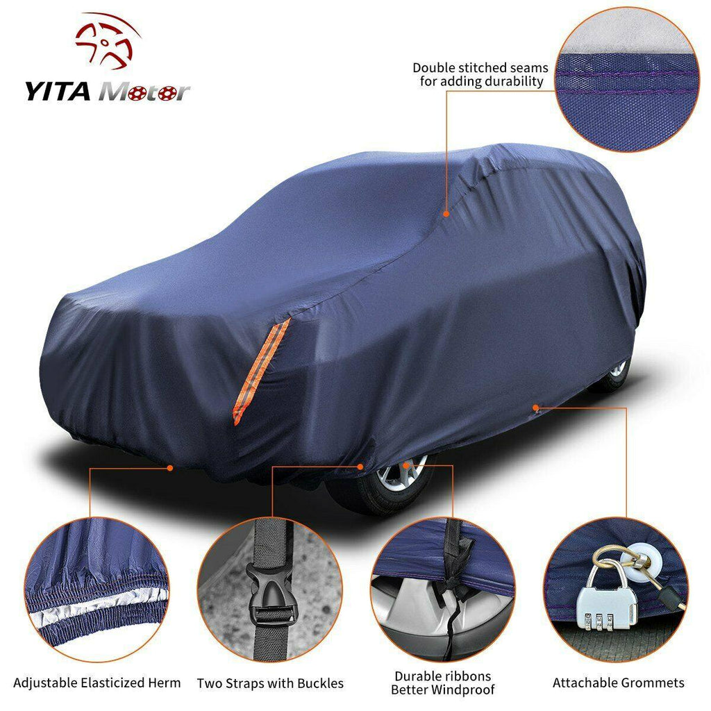 YITAMOTOR 16ft Universal SUV Fit Cover Outdoor Waterproof Rain Sun Resistant W/Lock