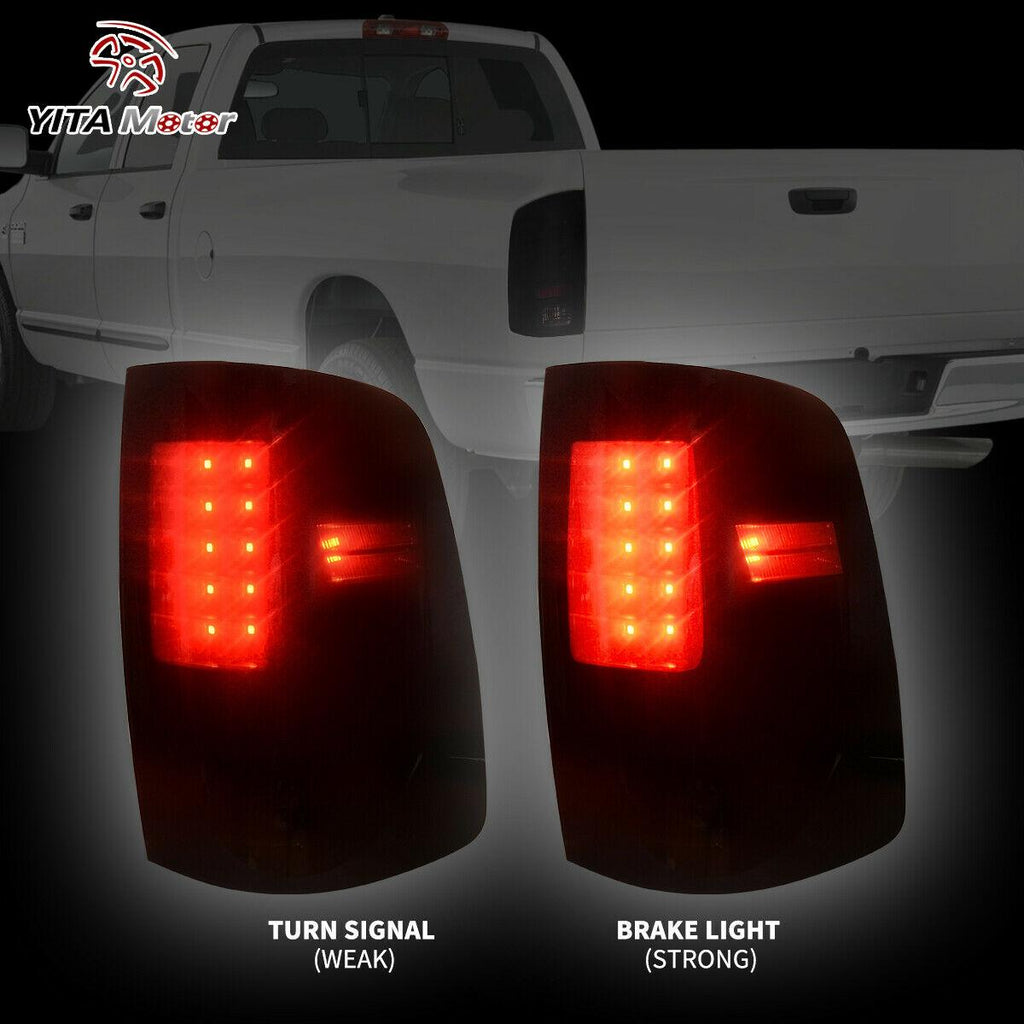 Smoke Lens For 2009-2019 Dodge Ram 1500 2010-2018 2500 3500 LED Tail Brake Light