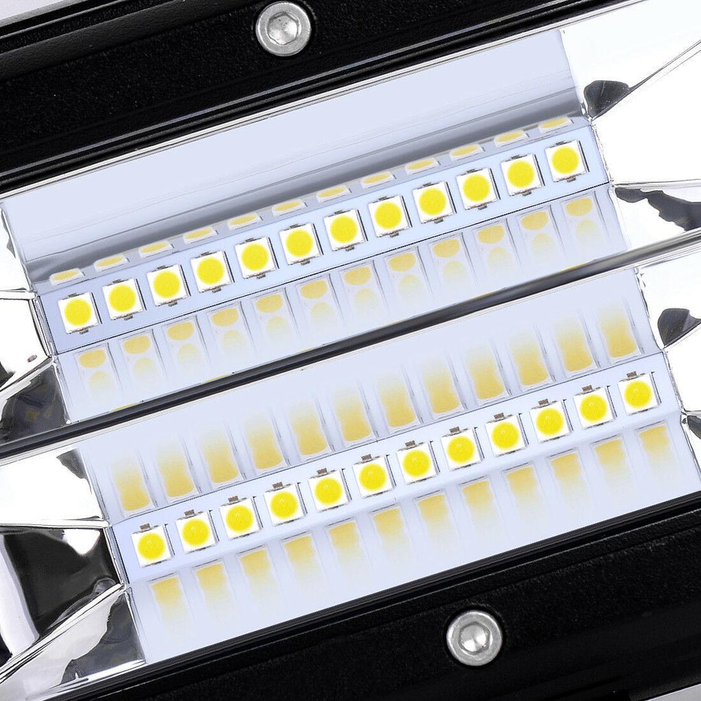 5 inch LED Light Bars 72W Flood Light Pods Off Road Fog Driving Lights for Trucks Pickup Jeep SUV ATV UTV Marine - YITAMotor