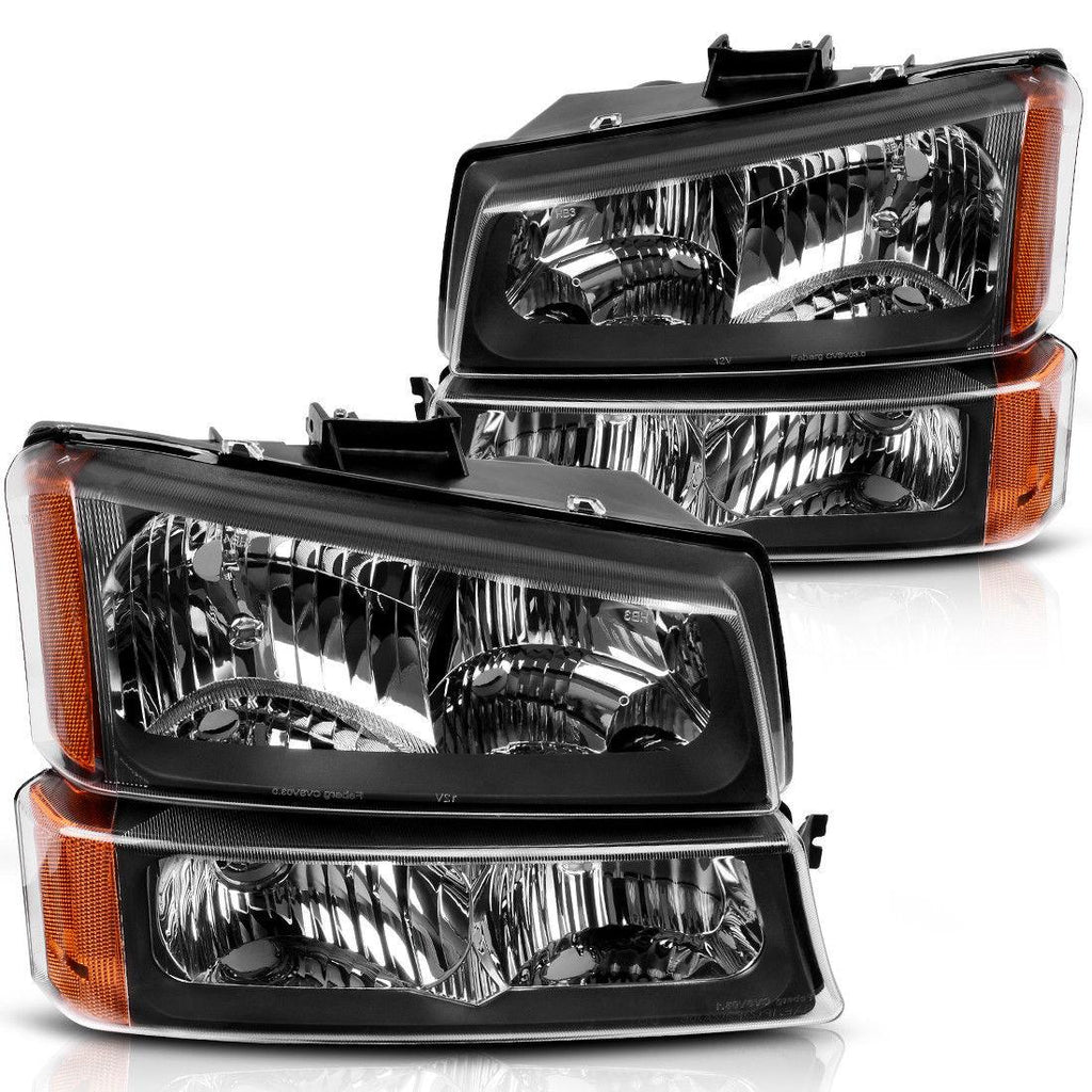 Headlights+Bumper Signal Lamp+Driving Fog Lights for 03-06 Chevy Silverado