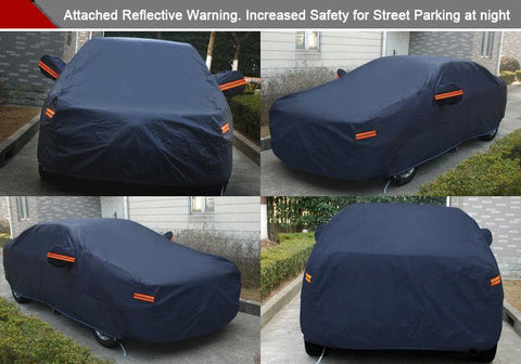 Fits up to 188 inches(Dark Blue) Full Car Cover Breathable Sun UV Rain Dust Heat Scratch Resistant Protection US - YITAMotor