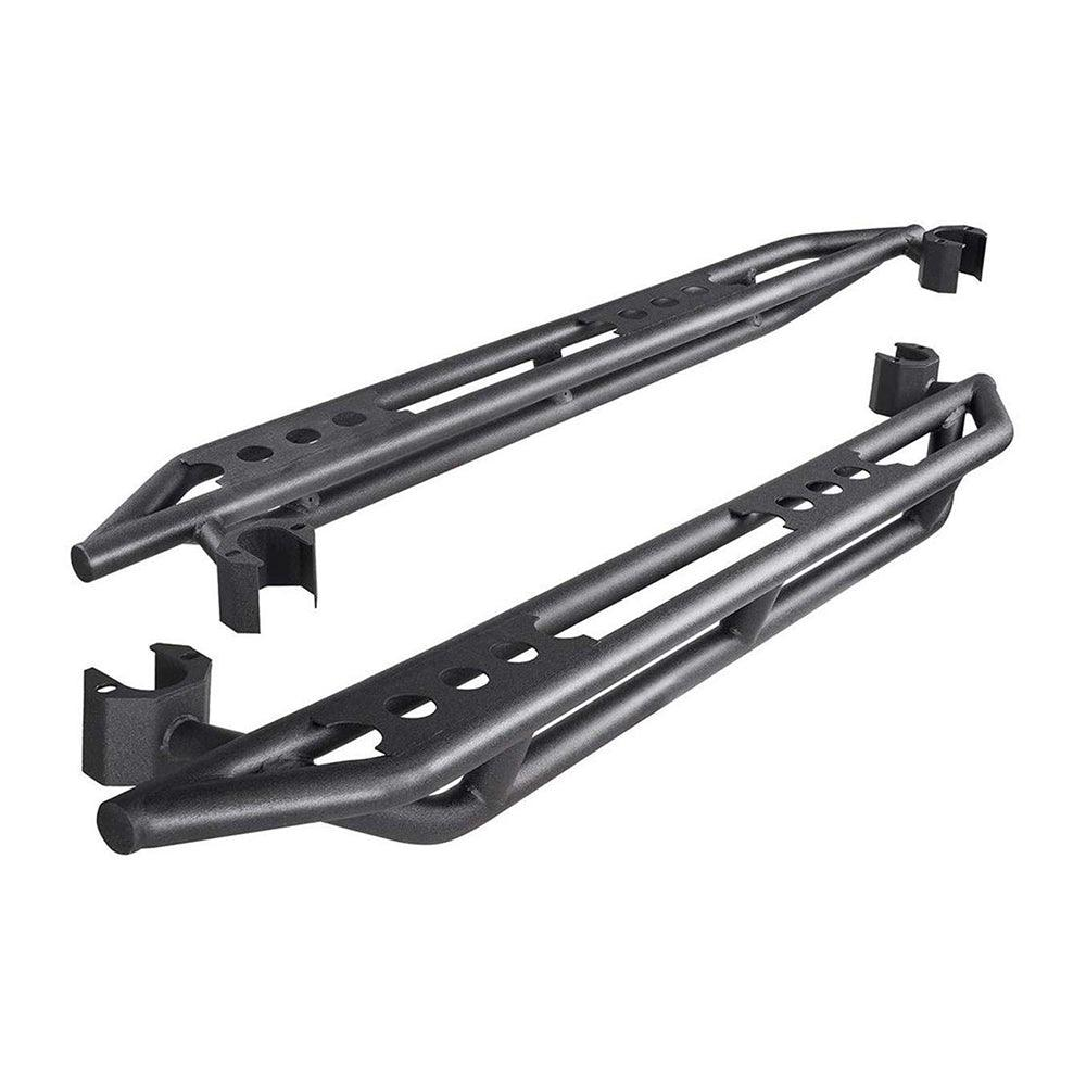 For 2007-2018 Jeep Wrangler JK 4 Door, Black Textured Powder Coating Finishing Side Step Nerf Bars Running Board - YITAMotor