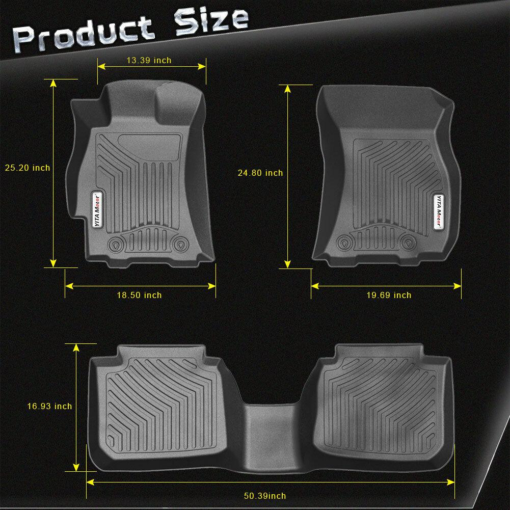 Floor Mats 1st 2nd Row for 2015-2018 Subaru Outback