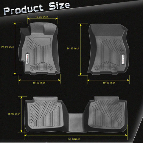 Floor Mats 1st 2nd Row for 2015-2018 Subaru Outback - YITAMotor