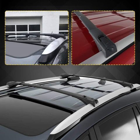 Cross Bars Roof Racks Compatible for 2013-2018 Toyota RAV4, Aluminum Rooftop Luggage Crossbars Cargo Bag Carrier with Locks Carrying Bike Canoe Kayak - YITAMotor