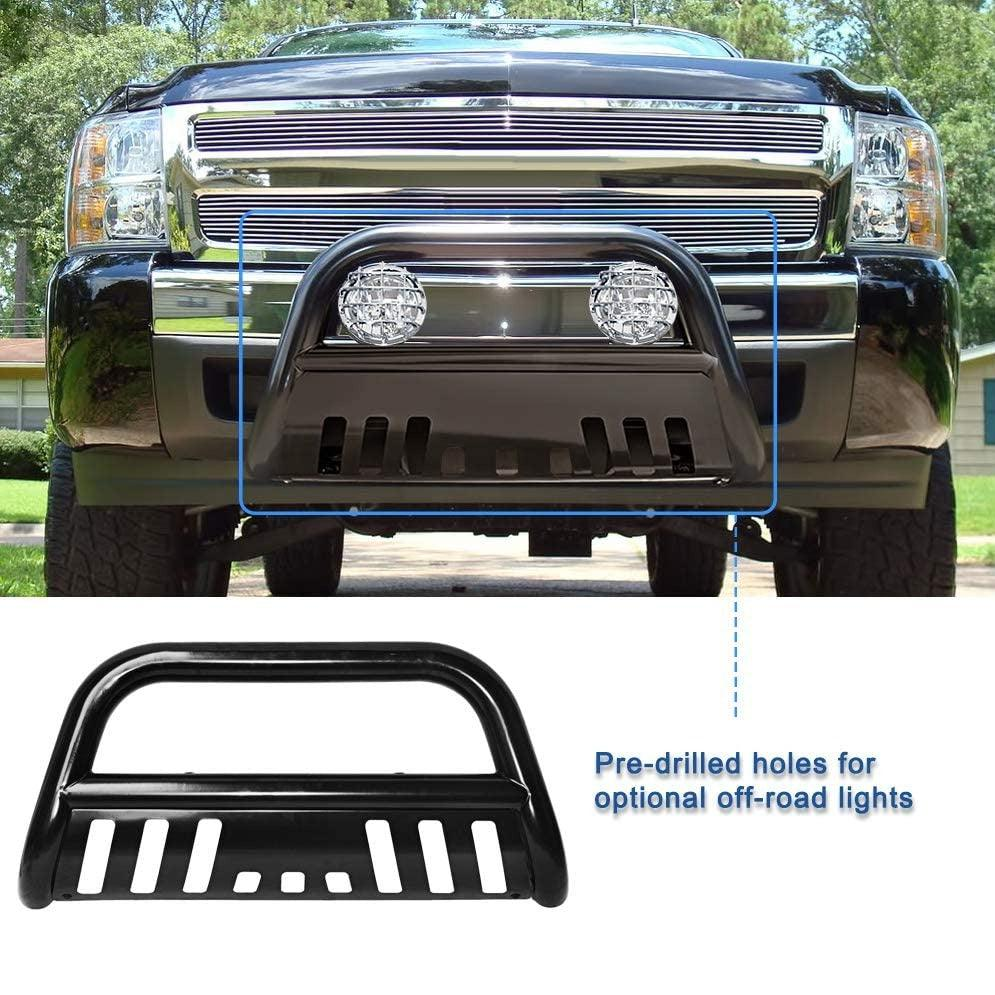 "Bull Bar Compatible for 05-15 Toyota Tacoma 3"" Tube Brush Push Grille Guard Front Bumper (Black) - YITAMotor"
