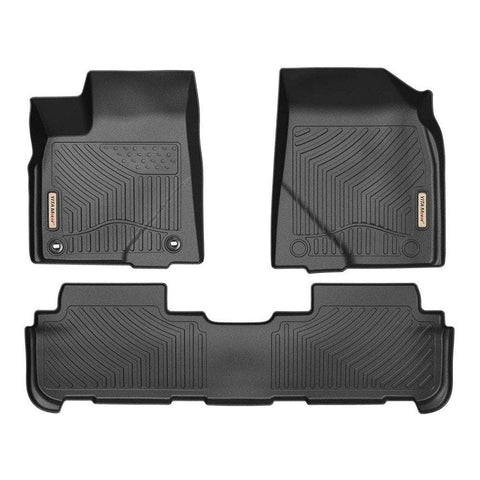Floor Mats Floor Liners for 2014-2019 Toyota Highlander 1st 2nd Row All Weather - YITAMotor