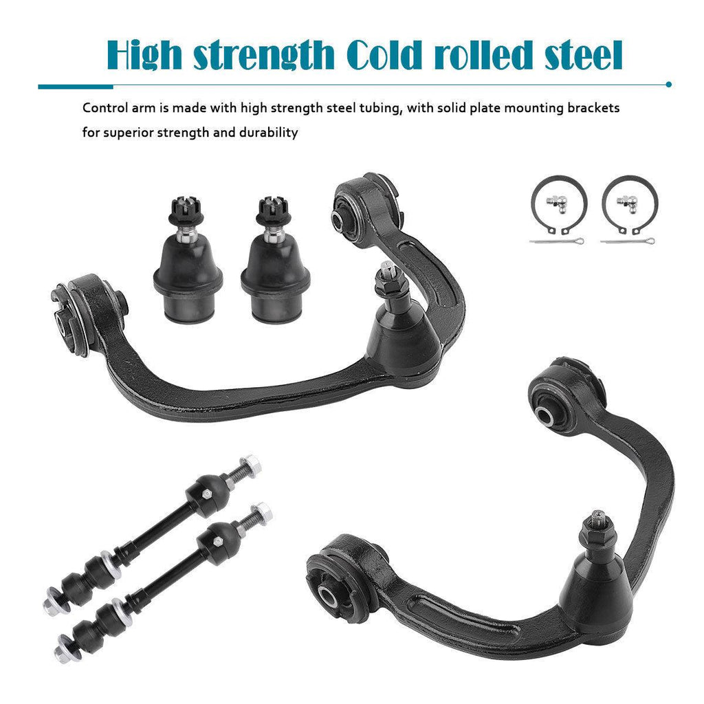 For 05-08 Ford F-150 4WD 6PC Front Upper Control Arm Ball Joint Sway Bar Link - YITAMotor