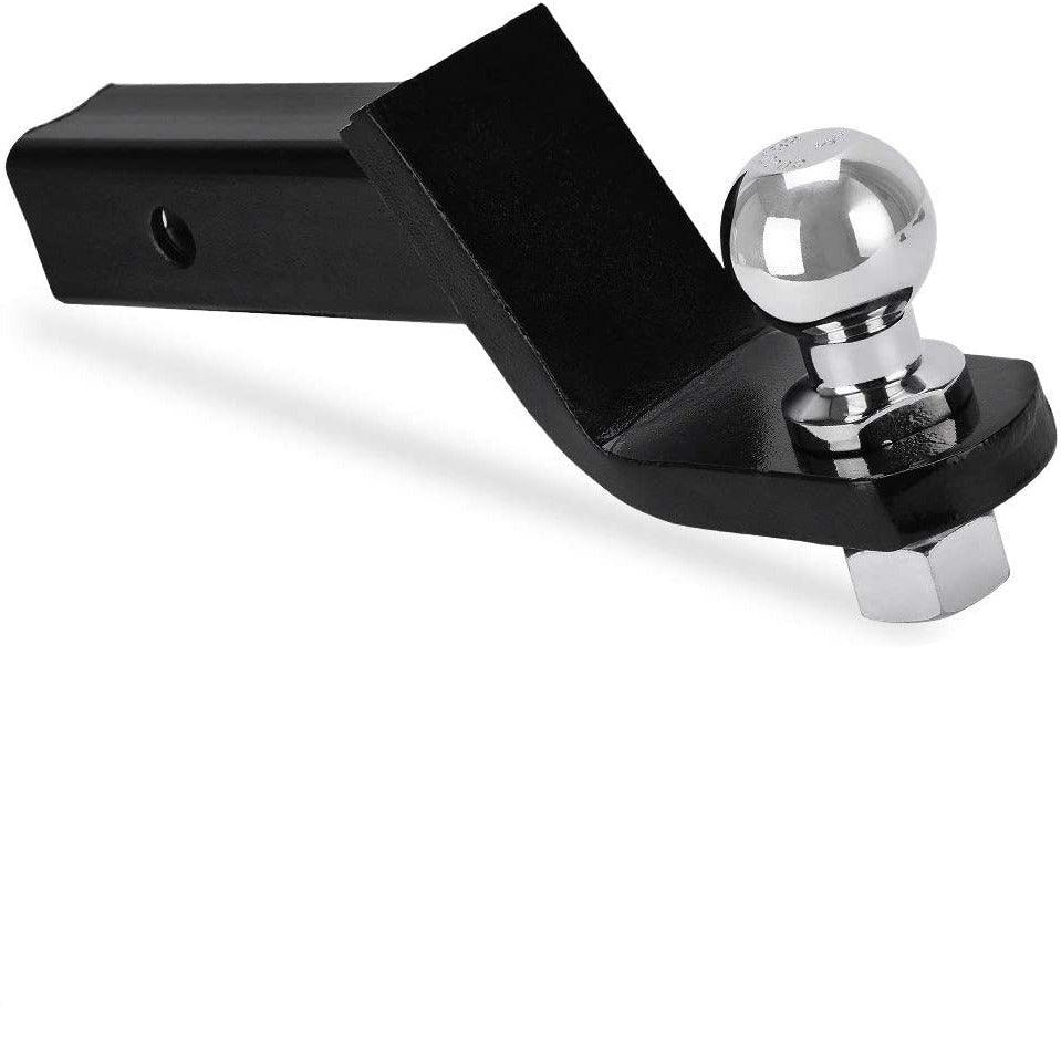 6,000 lb. GTW, 4 Inch Drop YITAMOTOR Trailer Hitch Ball Mount with 2-Inch Trailer Ball /& Hitch Pin Clip Fits 2-Inch Receiver