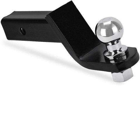 YITAMOTOR Trailer Hitch Ball Mount with 2-Inch Trailer Ball & Hitch Pin Clip Fits 2-Inch Receiver (6,000 lb. GTW, 4 Inch Drop) - YITAMotor