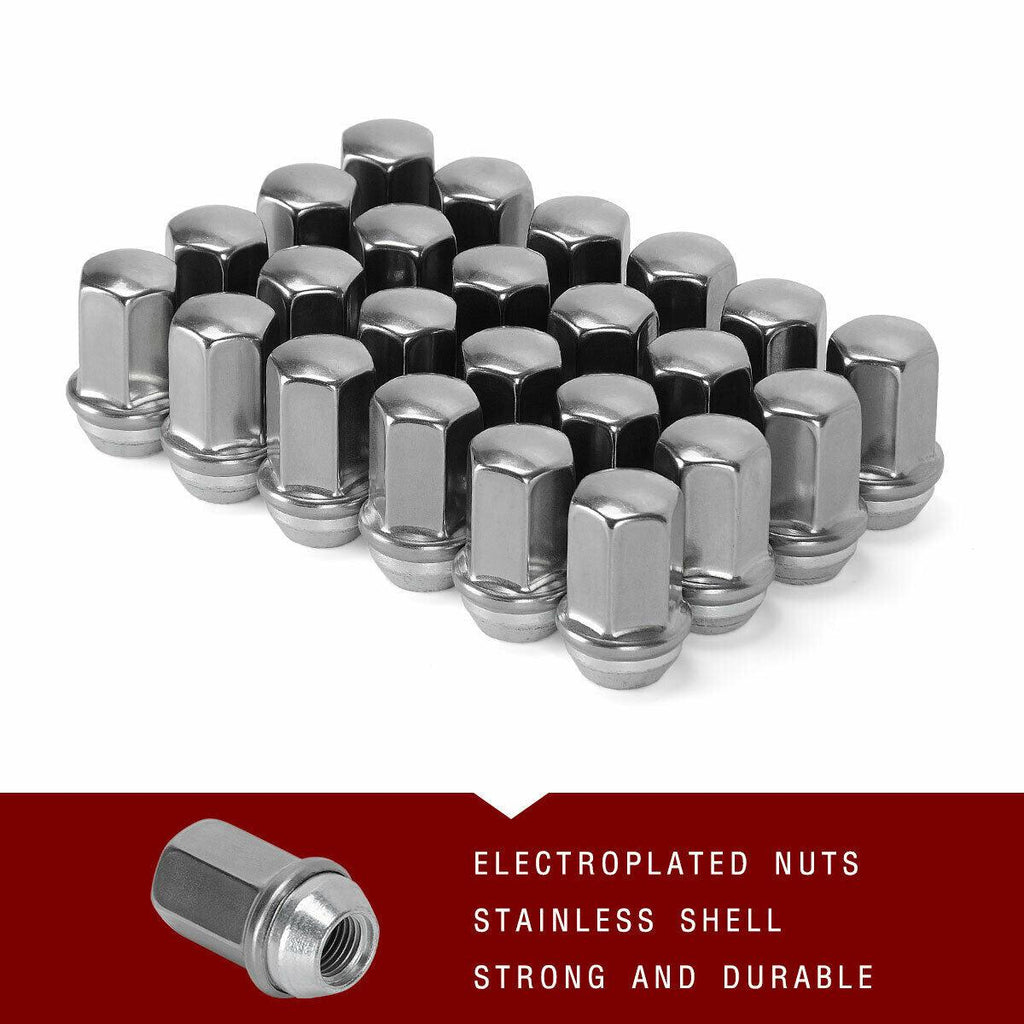 20pcs 1.87 Chrome 14mm X 1.50 Wheel Lug Nuts fit 2011 Chevrolet Suburban 1500 May Fit OEM Rims Buyer Needs to Review The spec