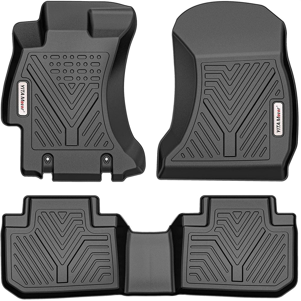 YITAMOTOR Floor Mats for 2014-2018 Subaru Forester, Custom Fit Black TPE Floor Liners 1st & 2nd Row All-Weather Protection