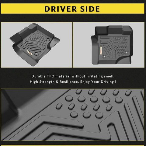 Custom Fit Floor Liners for 2015-2020 Ford F-150 SuperCrew Cab, YITAMOTOR Floor Mats 1st & 2nd Row All Weather Protection - YITAMotor