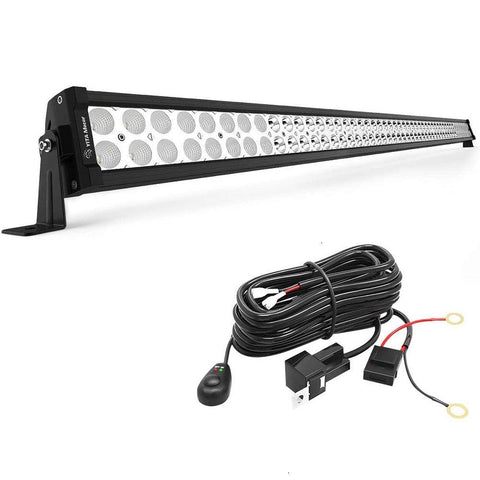 52 inches 300W Light Bar with 12V Switch on&Off Wiring Harness Spot Flood Combo Off Road LED Lights