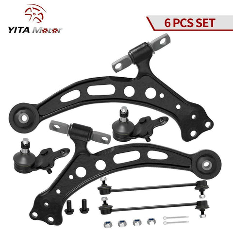 6Pcs Front Control Arm Suspension Kit for 1997-2001 Toyota Camry Avalon Lexus ES300 RX300 - YITAMotor