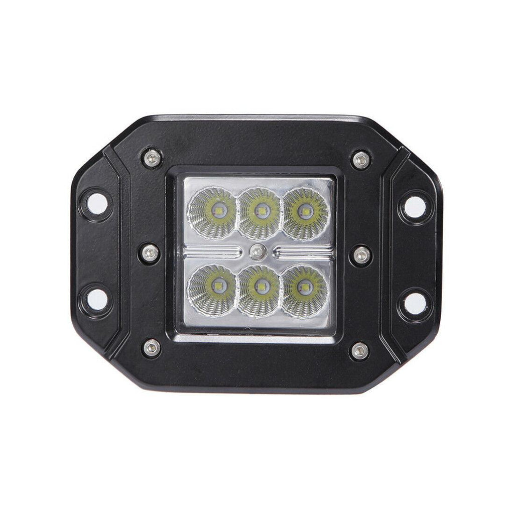 8PCS 5'' 24W Flush Mount LED Work Lights Flood Bumper Reverse Pods Tractor UTE 4X4WD - YITAMotor