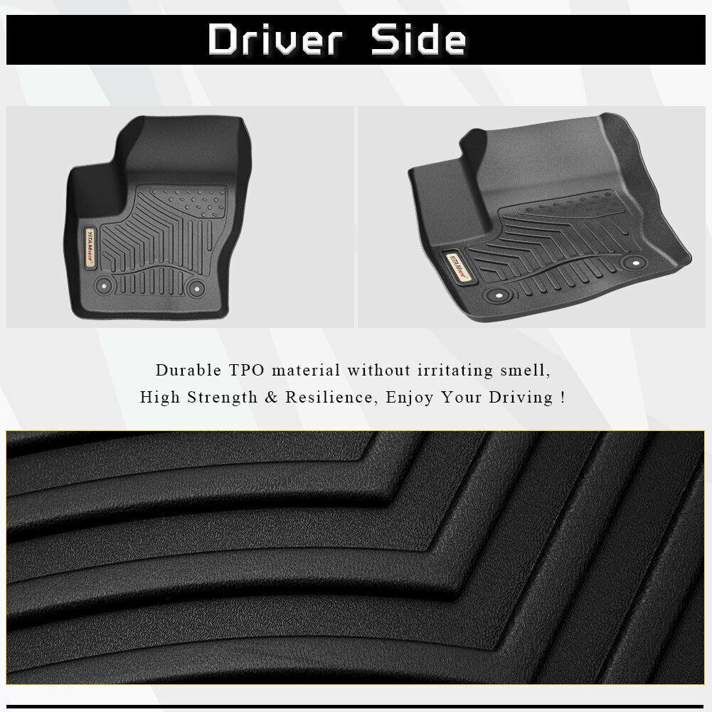 All Weather Floor Mats Full Set for 2015-2019 Ford Escape - YITAMotor