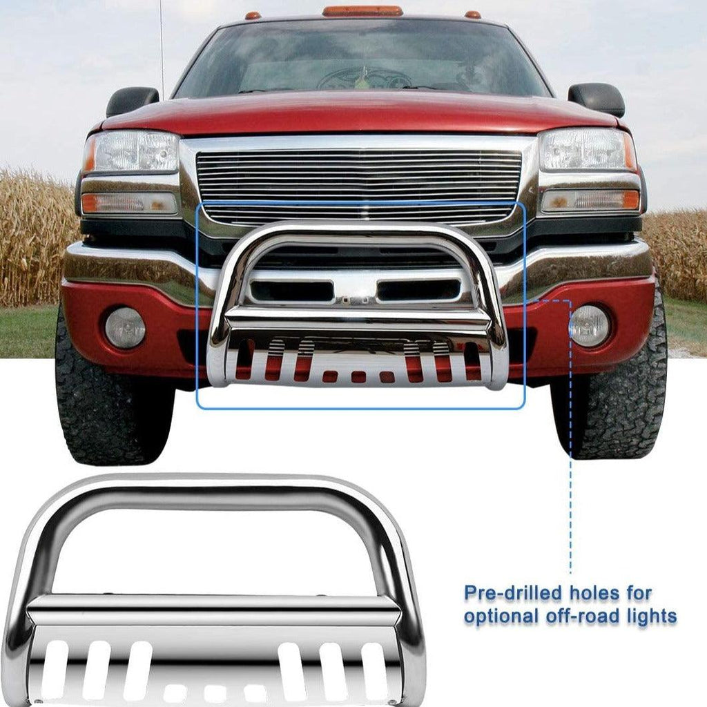 Bull Bar Compatible for 99-07 Chevy Silverado Sierra 1500/GMC /00-06 Chevy Suburban 1500/Chevy Tahoe/02-06 Chevy Avalanche 1500 Grill Brush Push Guard